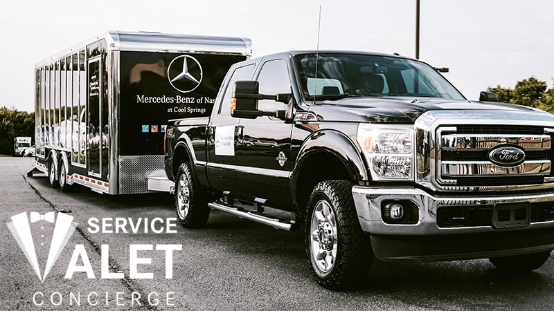 Mercedes-Benz of Nashville Service Valet Concierge Trailer