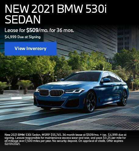 NEW 2021 BMW 530i SEDAN