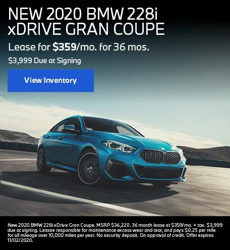 NEW 2020 BMW 228i xDRIVE GRAN COUPE