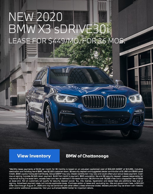 2020 BMW X3 Lease Specials