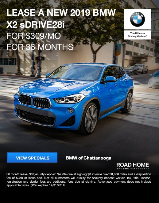 2019 BMW X2 Lease Specials