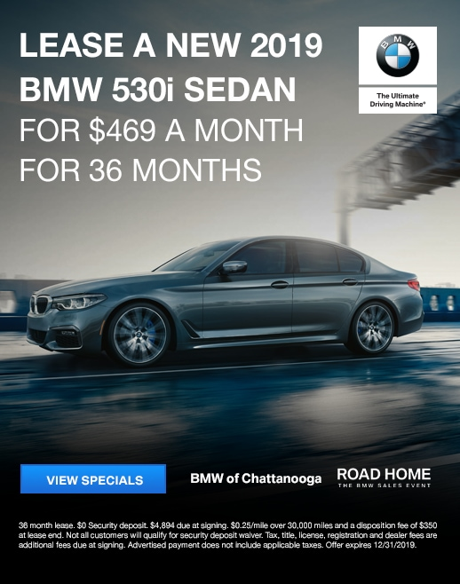 2019 BMW 530i Lease Specials