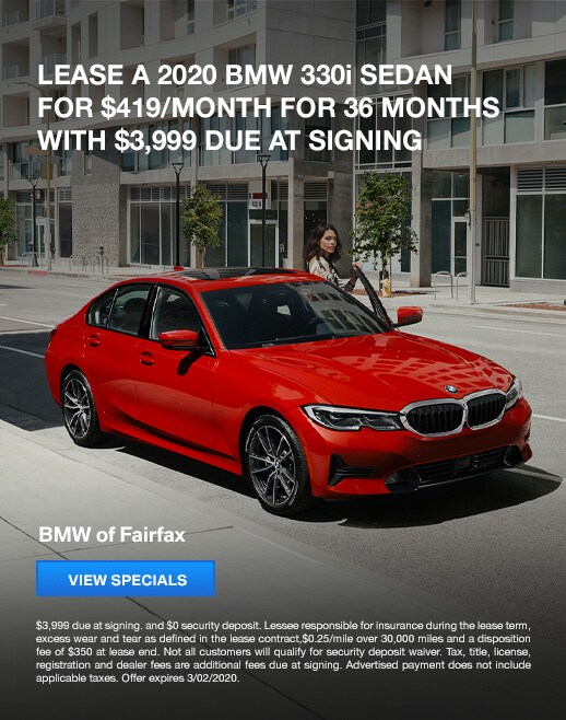 2020 BMW 330i Lease Specials