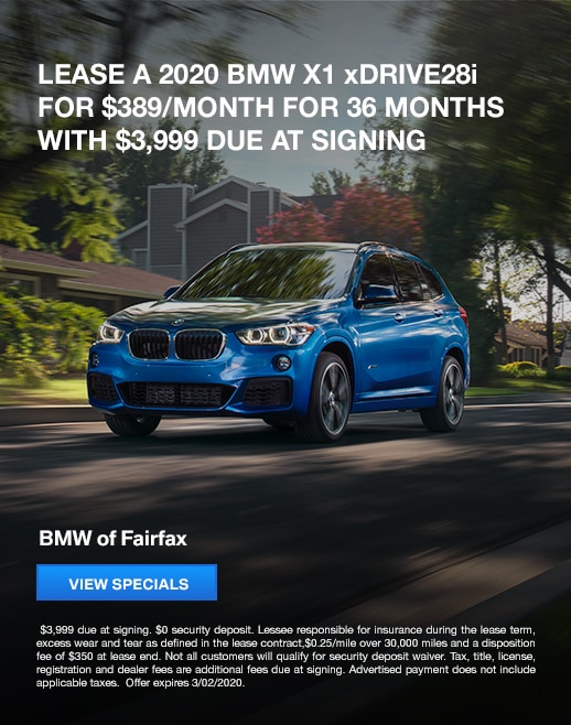 2020 BMW X1 Lease Specials