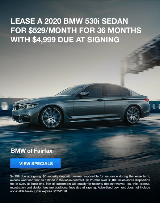 2020 BMW 530i Lease Specials