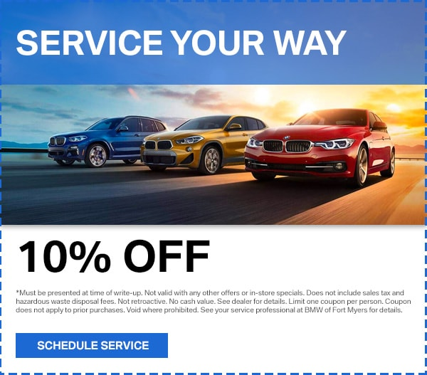 image relating to Bmw Coupons Printable named BMW Provider Offers within Fort Myers BMW of Fort Myers