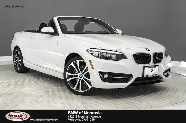 Certified 2016 BMW 228i Convertible in Los Angeles