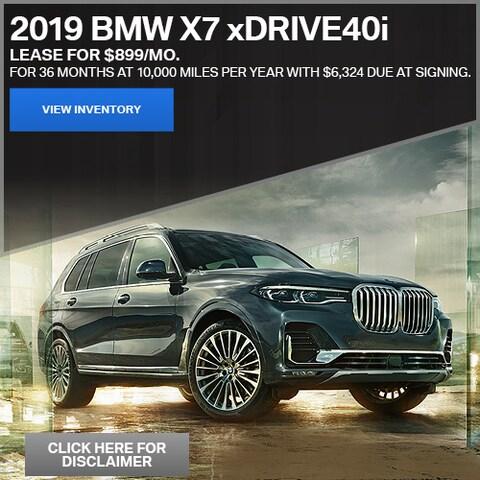 2019 BMW X7 xDrive40i - Lease