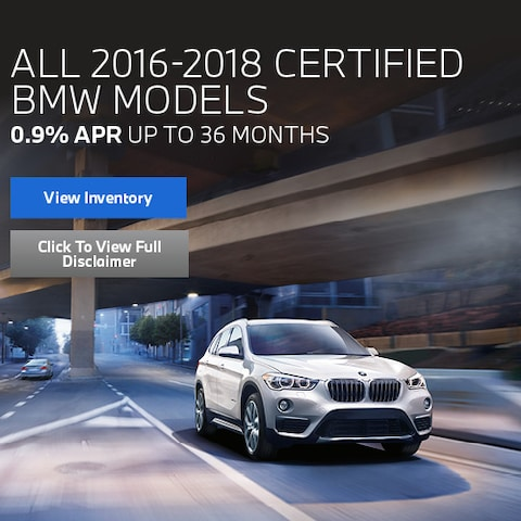 All 2016-2018 Certified BMW Models