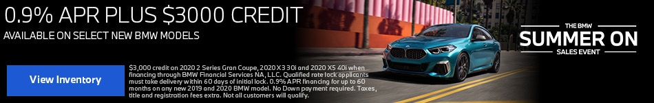 0.9% APR and up to $3000 Credit