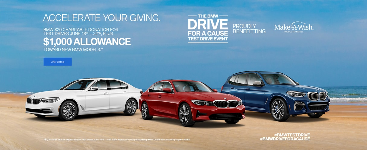 BMW Drive for a Cause Test Drive Event