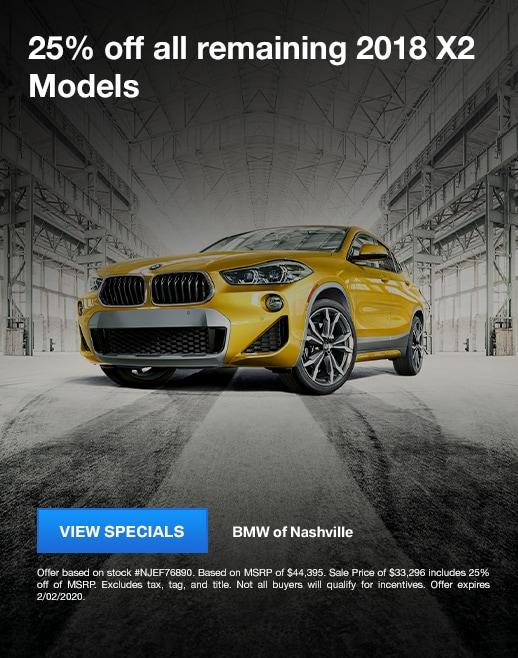 2018 BMW X2 Specials