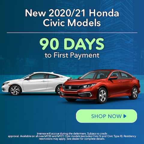 New 2020/21 Honda Civic Models