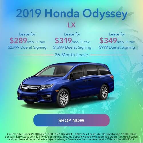 2019 Honda Odyssey - April