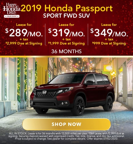 20149 Honda Passport Sport