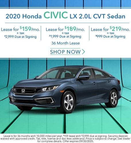 2020 Honda Civic LX 2.0L CVT Sedan