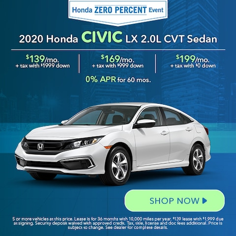 2020 Honda Civic LX 2.0L CVT Sedan