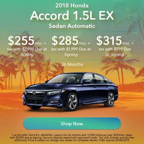 2018 honda Accord 1.5L EX