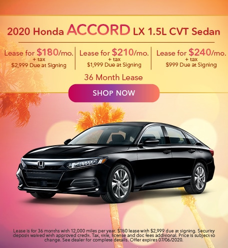 2020 Honda Accord LX 1.5L CVT Sedan
