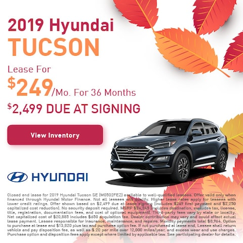 2019 Hyundai Tucson - Lease