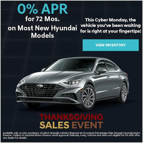 0% APR for 72 Mos. Cyber Monday