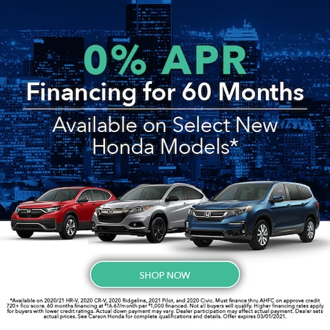 0% APR Financing for 60 Months