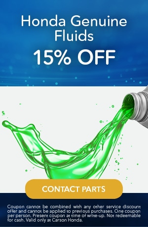 Honda Genuine Fluids 15% Off