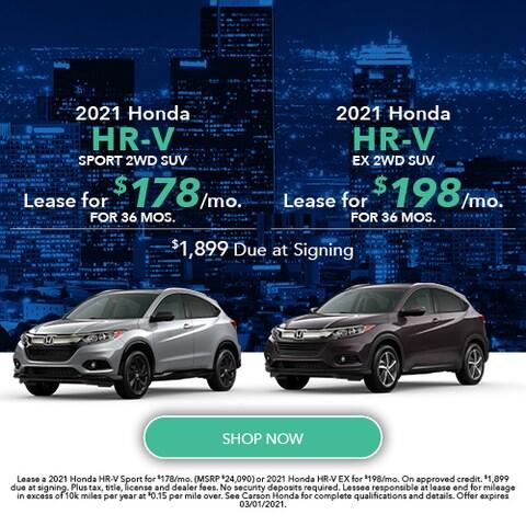 2021 Honda HR-V - Dual Offer