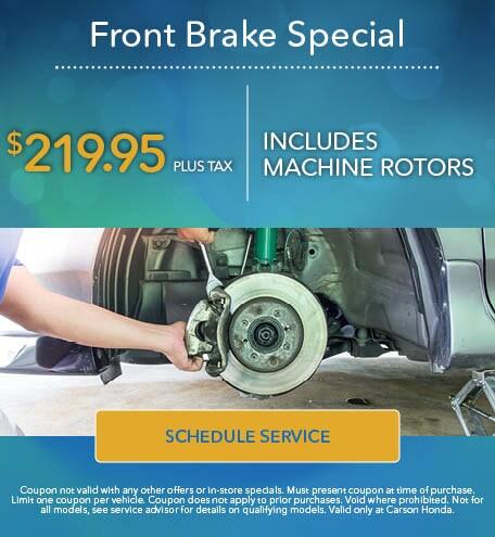 Front Brake Specials