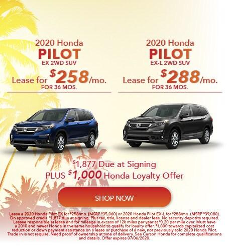 2020 Honda Pilot - Dual Offer