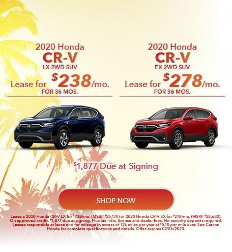 2020 Honda CR-V - Dual Offer
