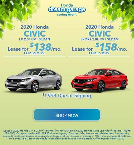 2020 Honda Civic - Dual Offer