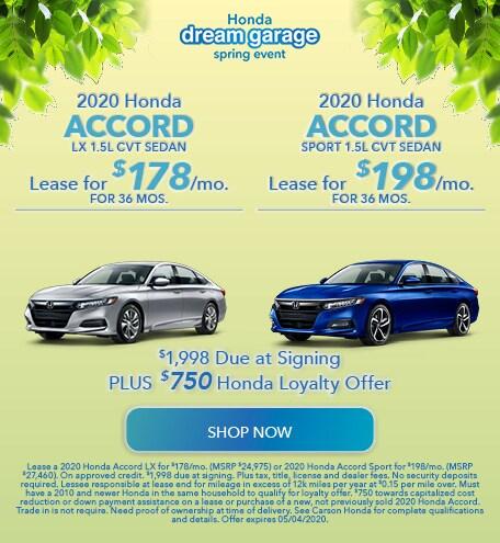 2020 Honda Accord - Dual Offer
