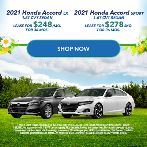 2021 Honda Accord - Dual Offers