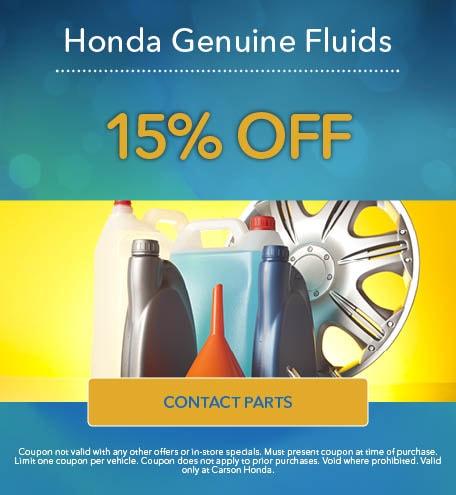 Auto Parts Specials at Carson Honda   Serving Los Angeles
