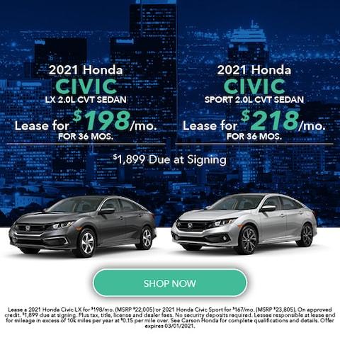 2021 Honda Civic Sedan - Dual Offer