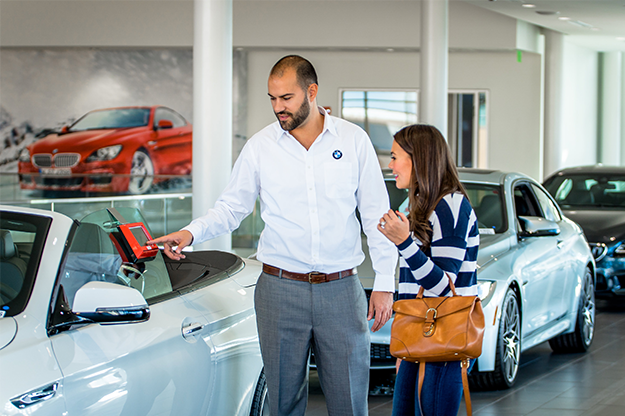 Customer interaction at auto dealership