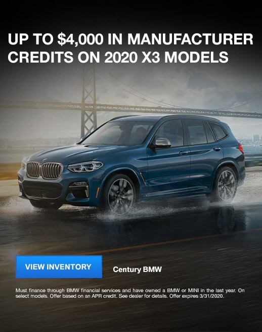 2020 BMW X3 Purchase Specials