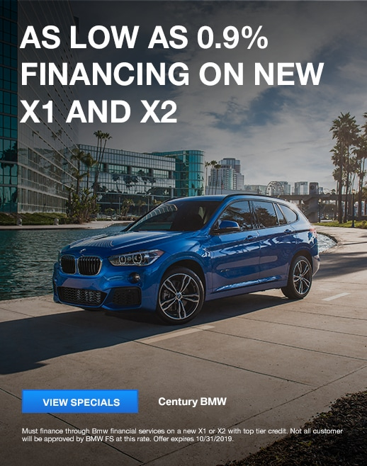 As low as 0.9% financing on new X1 and X2 models