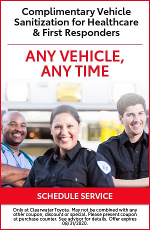 Complimentary Vehicle Sanitization for Healthcare & First Responders
