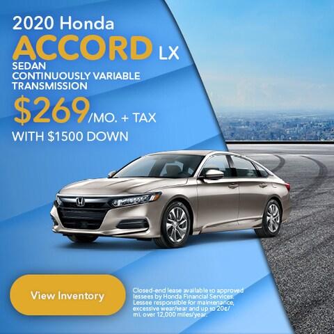 2020 Honda Accord LX Sedan Continuously Variable Transmission