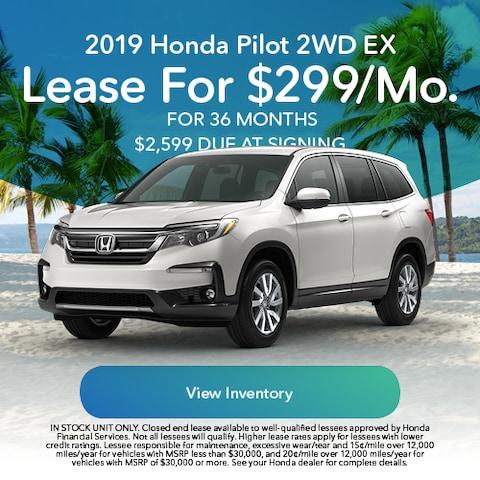 2019 Honda Pilot - Lease