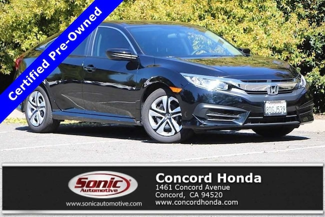 Certified 2018 Honda Civic LX Sedan in Concord, CA