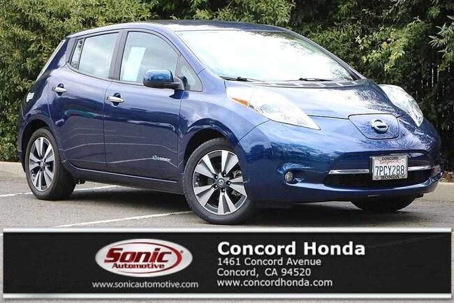 Used 2016 Nissan LEAF SL Hatchback in Concord, CA