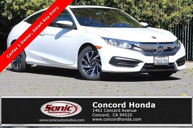 Used 2016 Honda Civic LX-P Coupe in Concord, CA