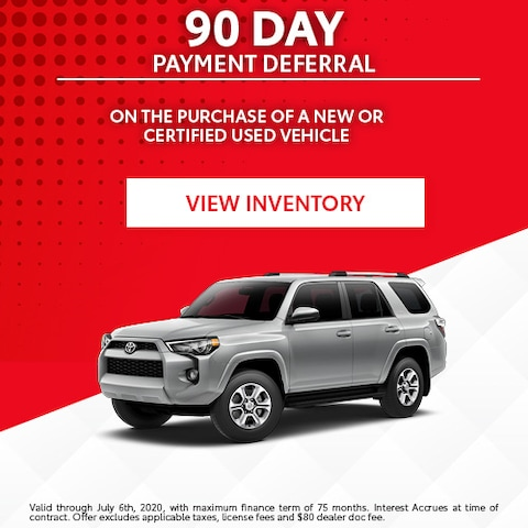 90 Day Payment Deferral