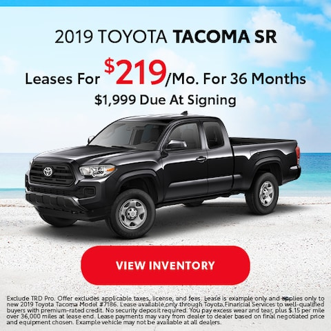 2019 Toyota Tacoma - Lease