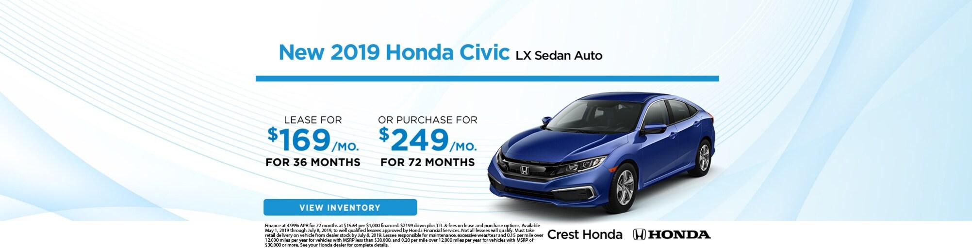 Crest Honda Nashville >> Crest Honda | New & Used Honda Dealer Serving Nashville, TN