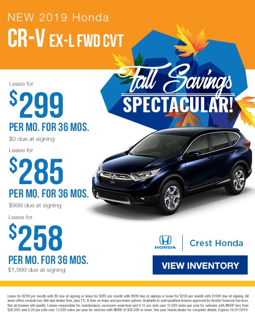 2019 Honda CR-V Lease Specials