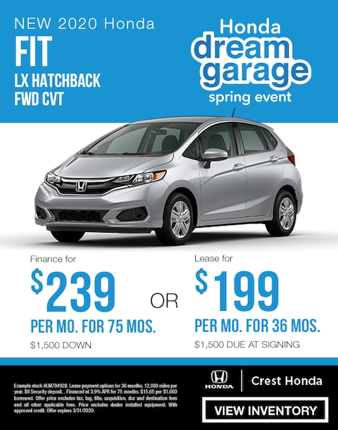 2020 Honda Fit Lease and Finance Specials